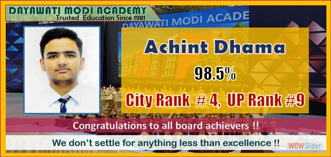 Achint Dhama - UP Rank 9